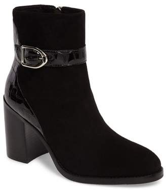 Johnston & Murphy HOPE BLOCK HEEL BUCKLE DETAIL BOOTIE