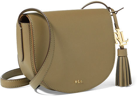 Ralph Lauren Lauren Leather Mini Caley Saddle Bag