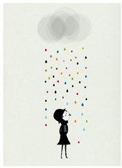 Blanca Gomez Mademoiselle Under The Rain Print