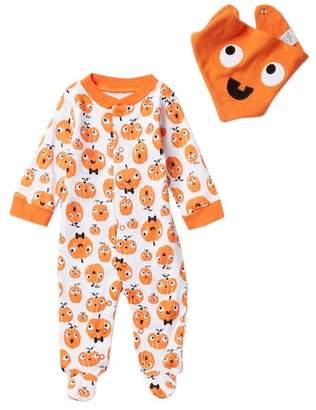 Baby Starters Pumpkin Footie & Bib 2-Piece Set (Baby)