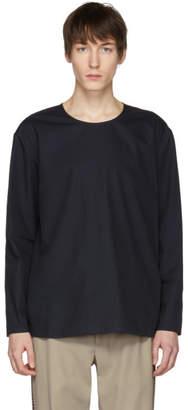Lemaire Navy Poplin T-Shirt