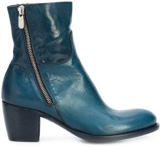 Rocco P. mid heel ankle boots
