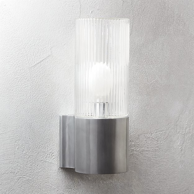 CB2 Ribbed Indoor-Outdoor Wall Sconce