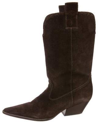 Michael Kors Suede Mid-Calf Boots