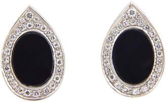 One Kings Lane Vintage 1970s Onyx & Diamond Earrings