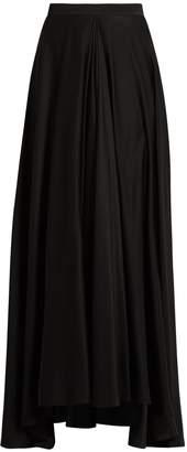 LANVIN Fluted-front silk crepe de Chine skirt $4,590 thestylecure.com