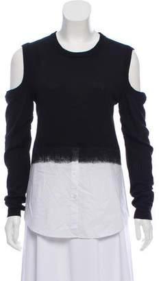 Dagmar Cold-Shoulder Long Sleeve Top