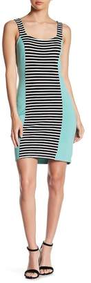 LAmade Striped Solid Bodycon Dress