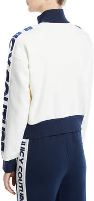 Juicy Couture French Terry Logo Stripe Colorblock Jacket