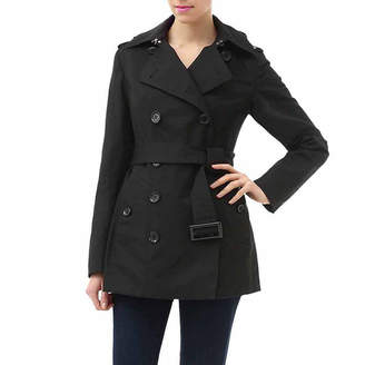 BGSD Women's Evelyn Classic Hooded Short Trench Coat