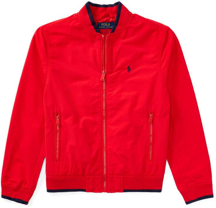 Cotton-Blend Baseball Jacket