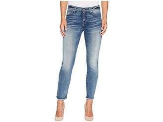 7 For All Mankind Roxanne Ankle w/ Raw Hem in Wall Street Heritage Women's Jeans