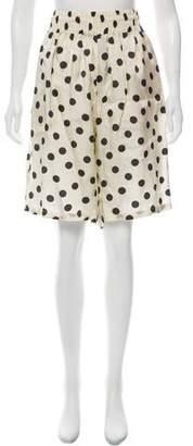 Hache Satin Polka Dot Shorts w/ Tags