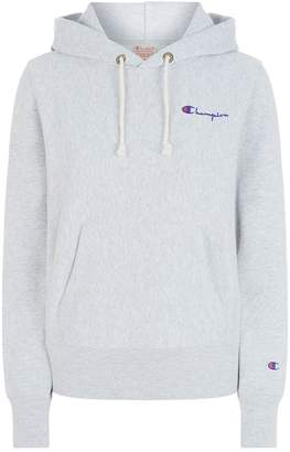 Champion Logo Front Hoodie