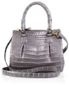 Nancy Gonzalez Crocodile Mini Pliss& #233 Crossbody Bag