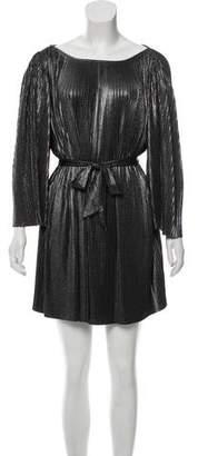 Halston Pleated Metallic Dress w/ Tags
