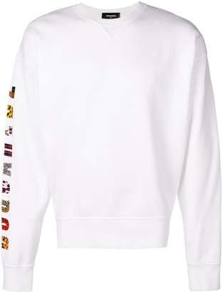 DSQUARED2 printed sleeve jumper