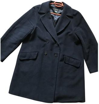 Laurèl Navy Wool Coat for Women
