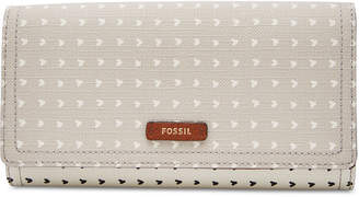 Fossil Logan Printed Flap Wallet