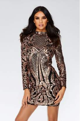 Next Womens Quiz Sequin Mesh Dress