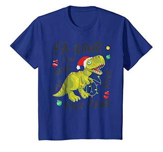 Tyrannosaurus Rex Funny Christmas shirt Fa Rawr T-Shirt