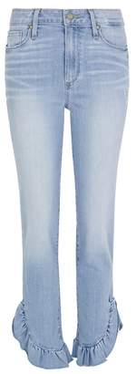 Paige Jacqueline Blue Ruffled-cuff Jeans