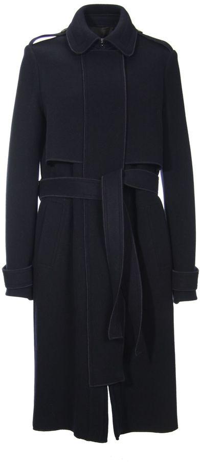 CarvenCarven Navy Blue Long Coat