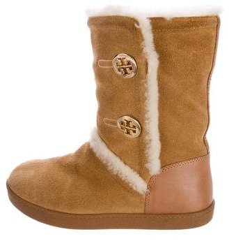 Tory Burch Tory Burch Shearling Flat Boots