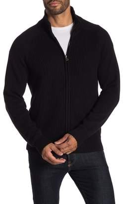 Weatherproof Zip Cardigan Solid Sweater