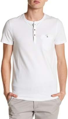 Ted Baker Laundered Short Sleeve Henley T-Shirt