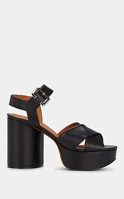 9d9b0d35d054 Clergerie Women s Vianne Leather Platform Sandals - Black