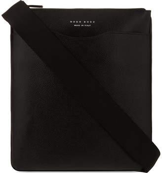 HUGO BOSS Signature leather messenger bag