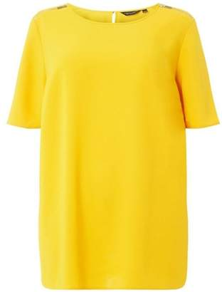 Dorothy Perkins Womens **DP Curve Ochre Short Sleeve Soft T-Shirt