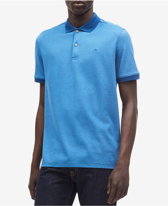 Calvin Klein Men's Liquid Touch Micro Stripe Polo Shirt