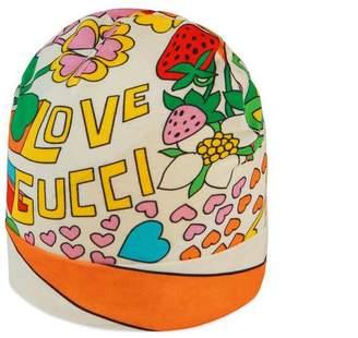 Gucci Baby rainbow pop print hat