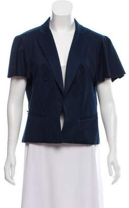 Fendi Short Sleeve Open Front Jacket
