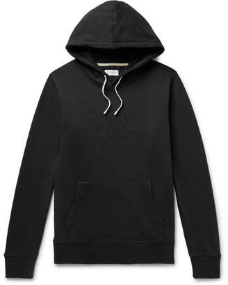 Saturdays NYC Logo-Embroidered Loopback Cotton-Jersey Hoodie