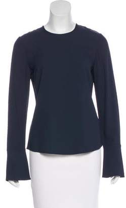 Jaeger Long Sleeve Scoop Neck Top