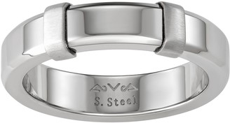 Vera Wang Simply Vera Men's Stainless Steel Polished Ring