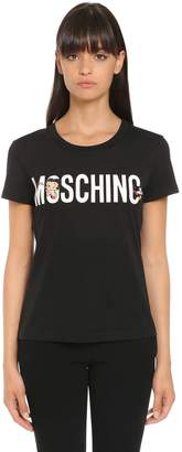 Moschino Slim Betty Boop Cotton Jersey T-Shirt