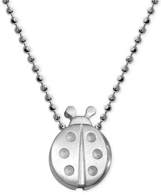 Alex Woo Little Faith Ladybug Pendant Necklace in Sterling Silver