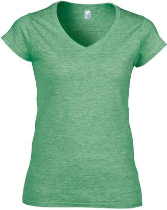 Gildan Ladies Soft Style Short Sleeve V-Neck T-Shirt (XXL)