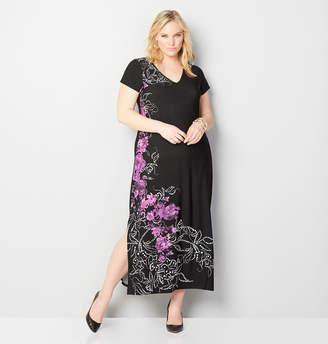 Avenue Floral Puff Print Maxi Dress
