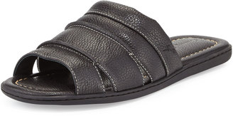 Tommy Bahama Archer Leather Slide Sandal, Black $71.10 thestylecure.com