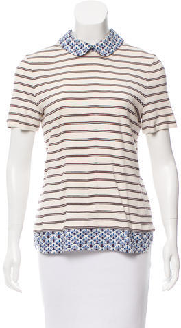 Tory Burch Tory Burch Striped Polo Top