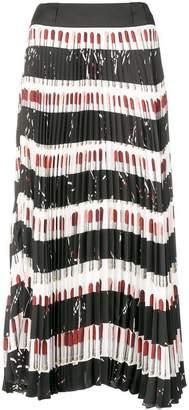 Prada pleated printed skirt
