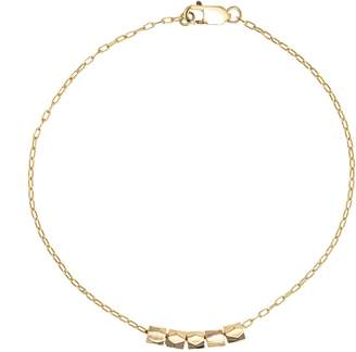 FEATHER+STONE - Gold Faceted Bead Bracelet