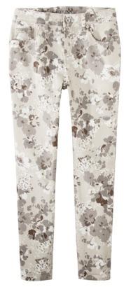Merona Women's Rolled Ankle Skinny Jean (Curvy Fit)- Floral Print