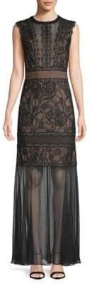 Tadashi Shoji Lace Illusion Dress