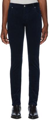 Balmain Navy Corduroy Trousers